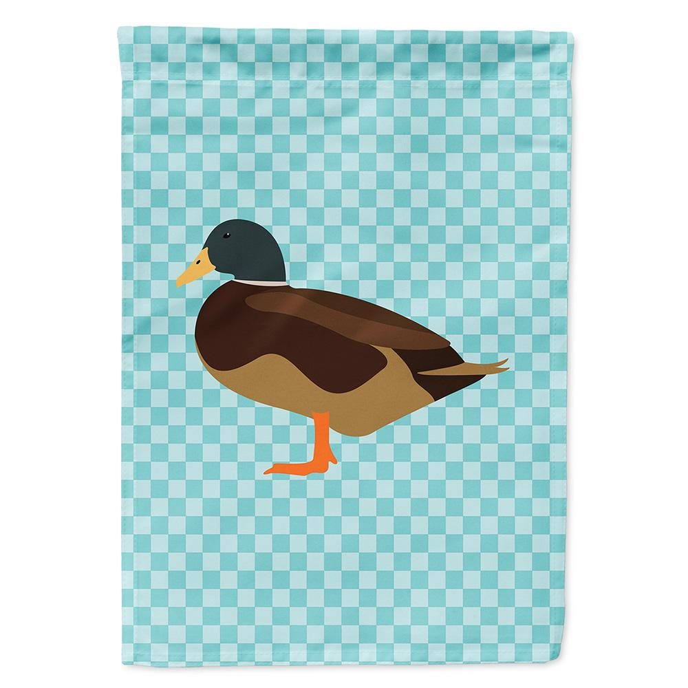 Buy this Silver Bantam Duck Blue Check Flag Garden Size