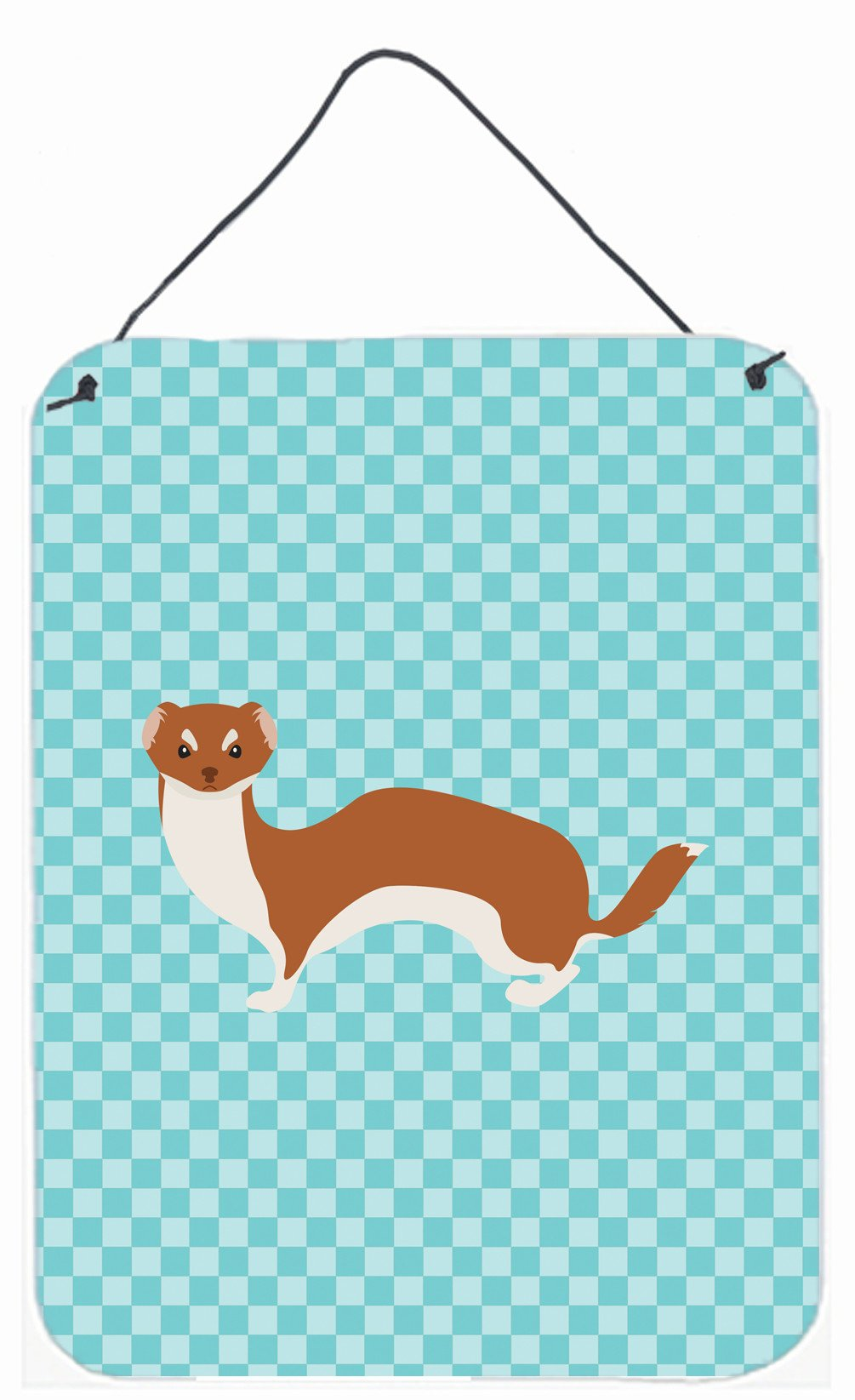 Buy this Weasel Blue Check Wall or Door Hanging Prints BB8044DS1216