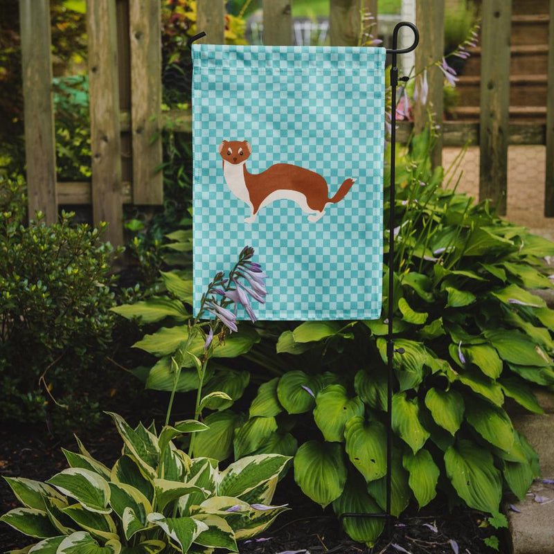 Buy this Weasel Blue Check Flag Garden Size