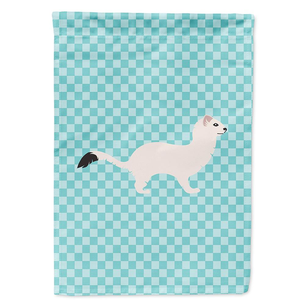 Buy this Stoat Short-tailed Weasel Blue Check Flag Garden Size