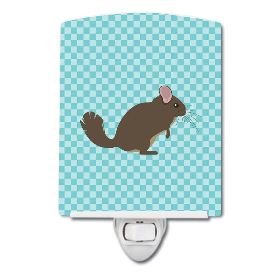 Buy this Chinchilla Blue Check Ceramic Night Light BB8049CNL