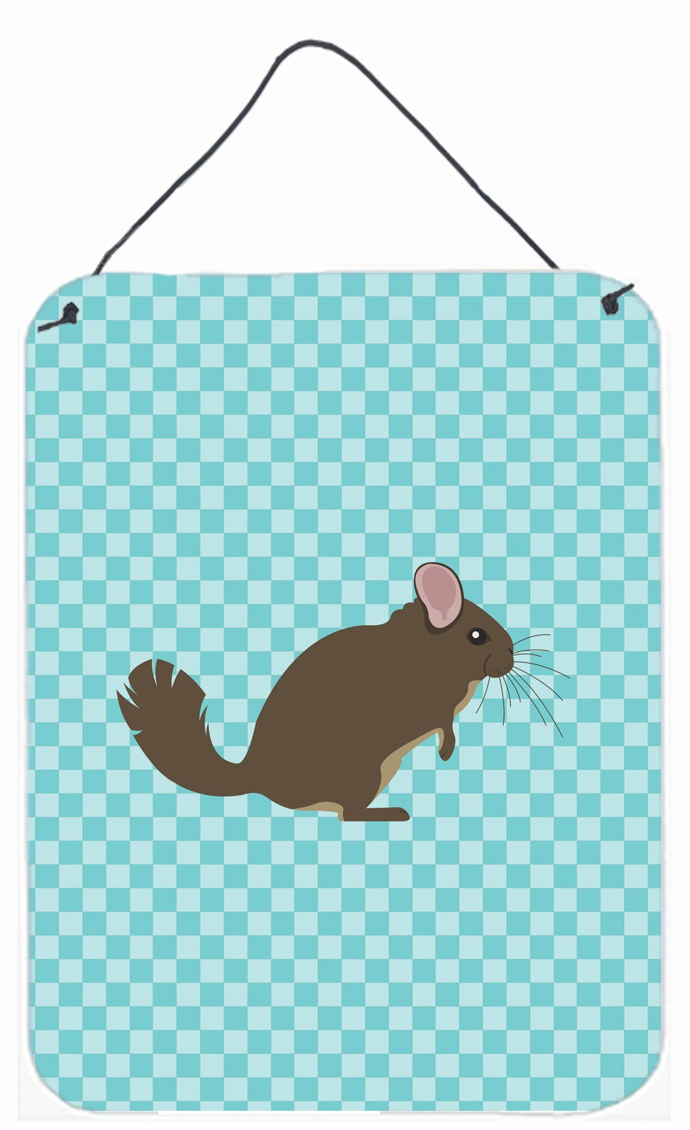 Chinchilla Blue Check Wall or Door Hanging Prints BB8049DS1216 by Caroline's Treasures