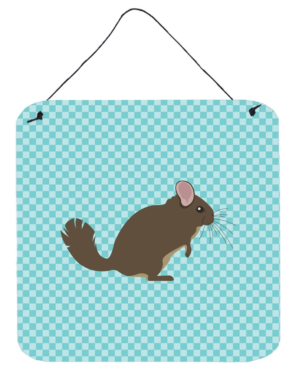 Chinchilla Blue Check Wall or Door Hanging Prints BB8049DS66 by Caroline's Treasures
