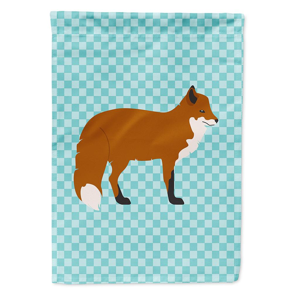 Buy this Red Fox Blue Check Flag Garden Size