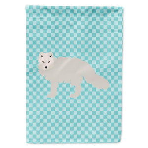 Buy this White Arctic Fox Blue Check Flag Garden Size