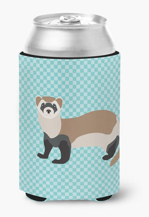 Buy this Ferret Blue Check Can or Bottle Hugger BB8052CC