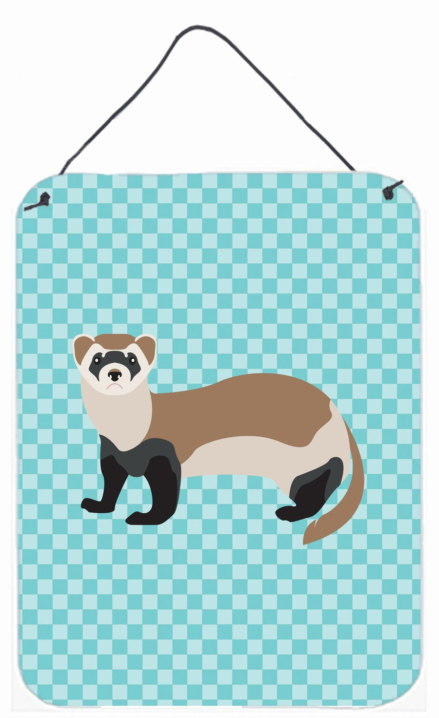Buy this Ferret Blue Check Wall or Door Hanging Prints BB8052DS1216