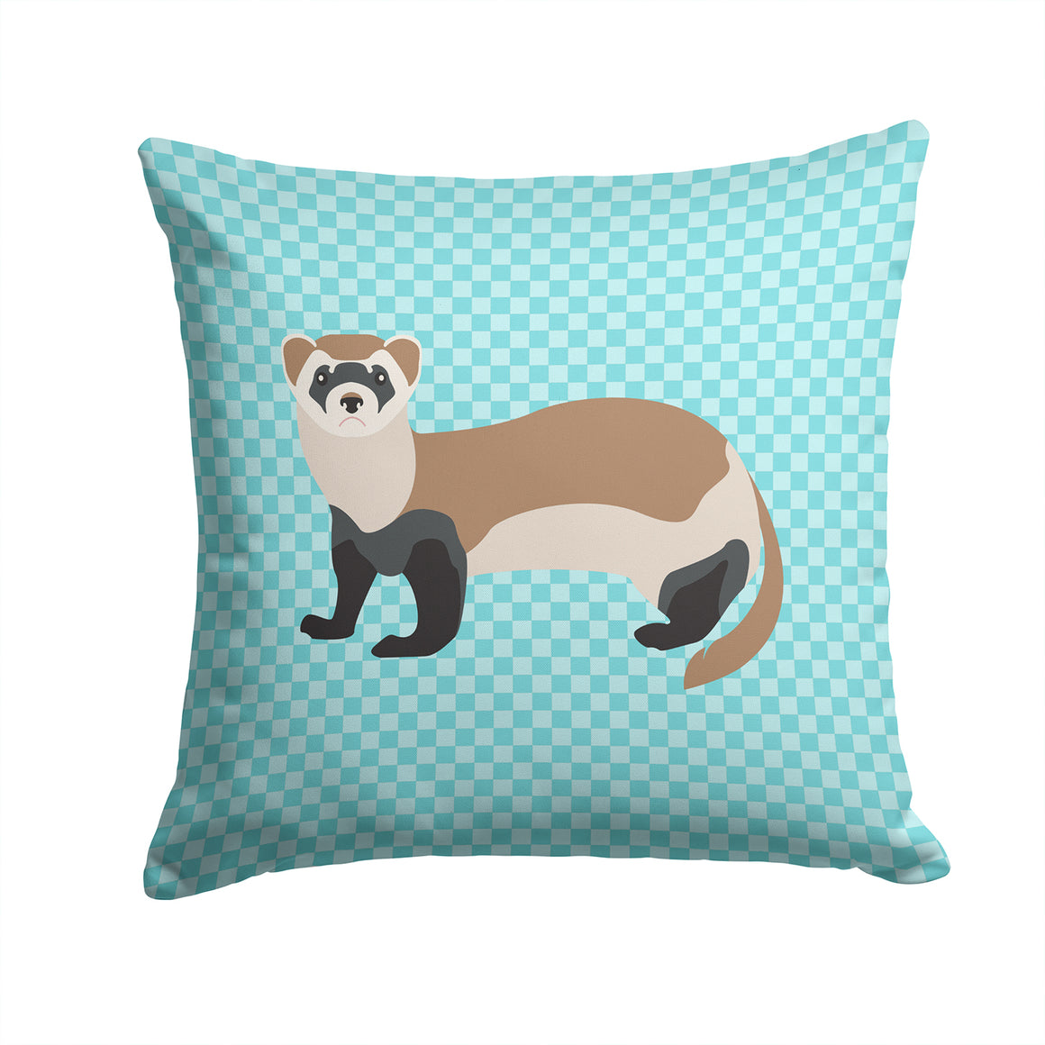 Buy this Ferret Blue Check Fabric Decorative Pillow BB8052PW1414