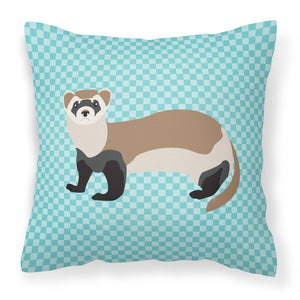 Buy this Ferret Blue Check Fabric Decorative Pillow BB8052PW1818