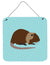 Coypu Nutria River Rat Blue Check Wall or Door Hanging Prints BB8053DS66 by Caroline's Treasures