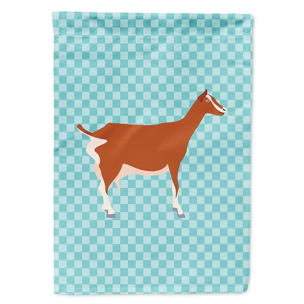 Toggenburger Goat Blue Check Flag Garden Size by Caroline's Treasures