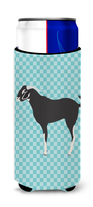 Buy this Black Bengal Goat Blue Check Michelob Ultra Hugger for slim cans