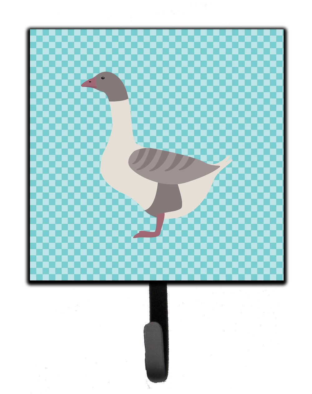 Buff Grey Back Goose Blue Check Leash or Key Holder BB8075SH4 by Caroline's Treasures