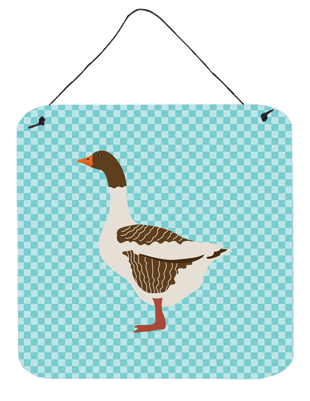 Pomeranian Rogener Goose Blue Check Wall or Door Hanging Prints BB8077DS66 by Caroline's Treasures