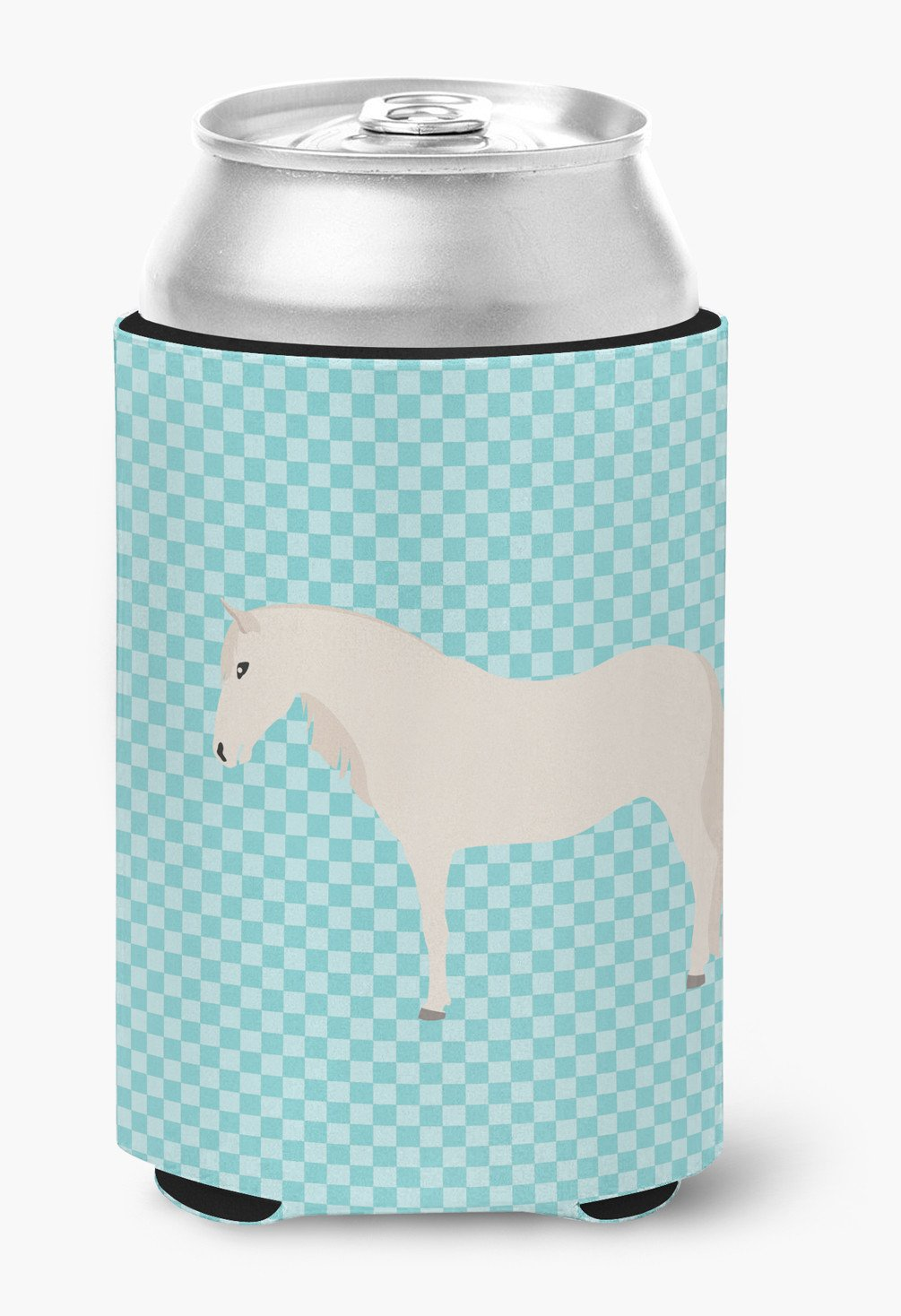 Buy this Paso Fino Horse Blue Check Can or Bottle Hugger BB8079CC