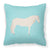 Buy this Paso Fino Horse Blue Check Fabric Decorative Pillow BB8079PW1818