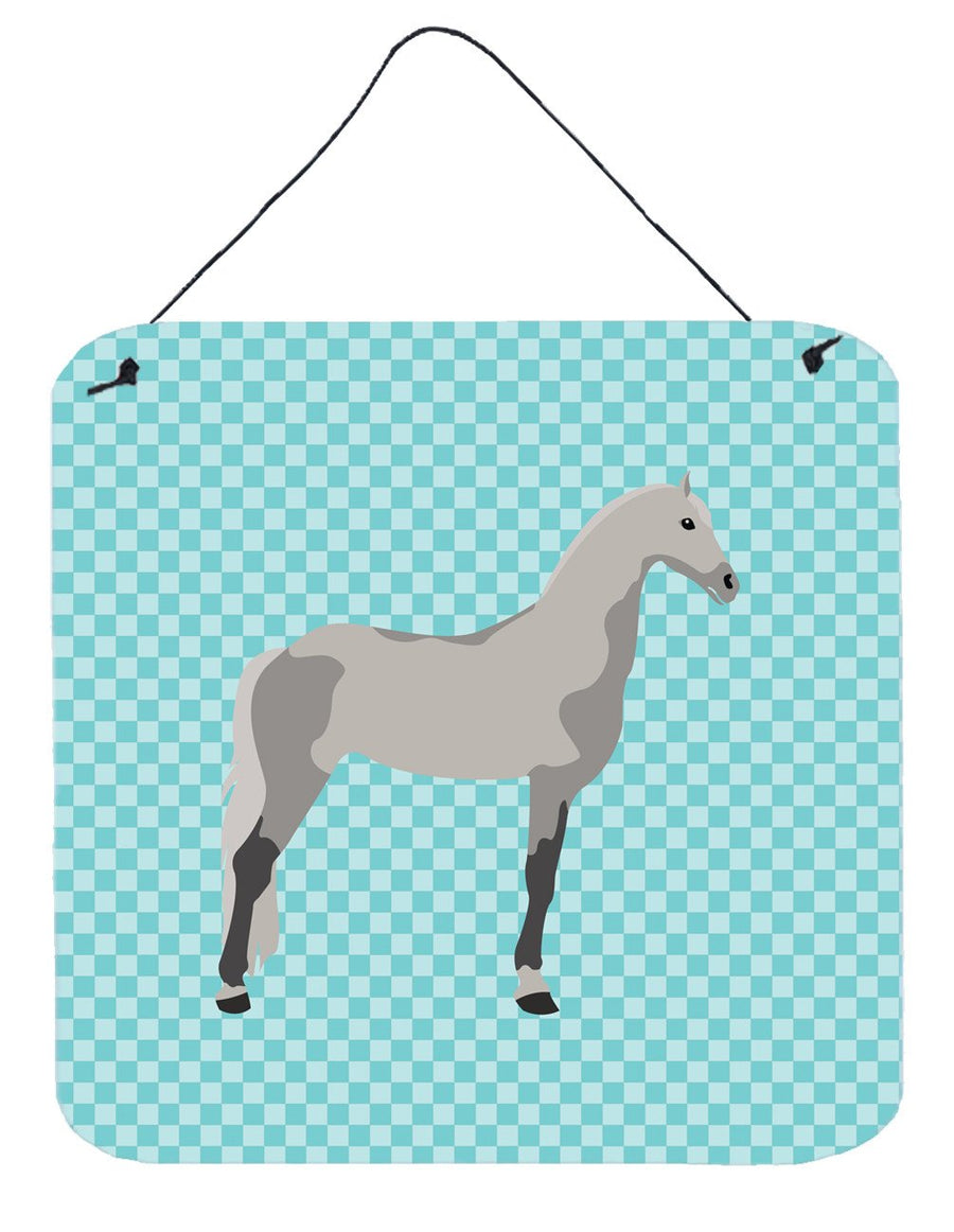 Buy this Orlov Trotter Horse Blue Check Wall or Door Hanging Prints BB8082DS66