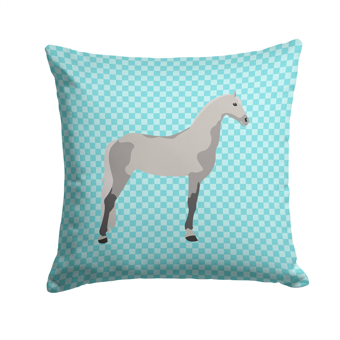 Buy this Orlov Trotter Horse Blue Check Fabric Decorative Pillow BB8082PW1414