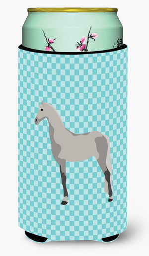 Buy this Orlov Trotter Horse Blue Check Tall Boy Beverage Insulator Hugger BB8082TBC