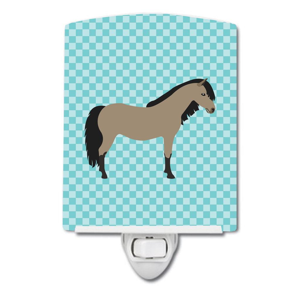 Welsh Pony Horse Blue Check Ceramic Night Light BB8084CNL by Caroline's Treasures