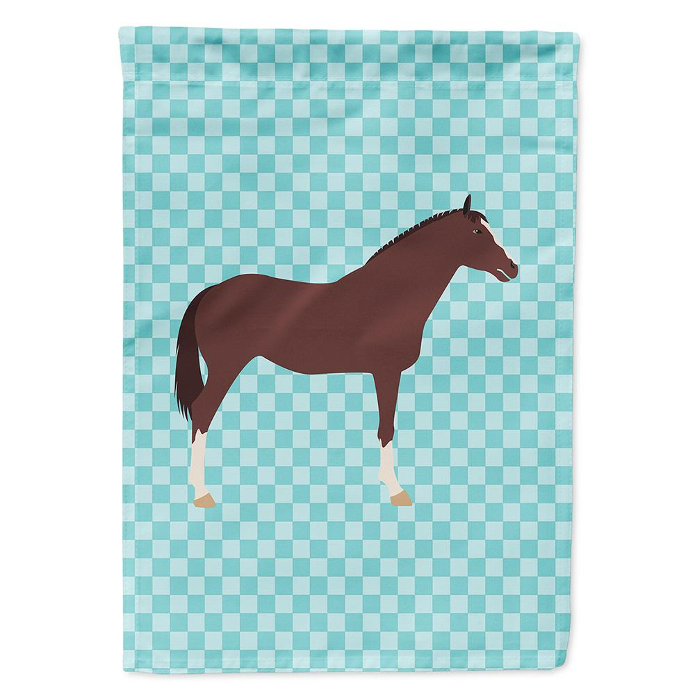 Buy this English Thoroughbred Horse Blue Check Flag Garden Size