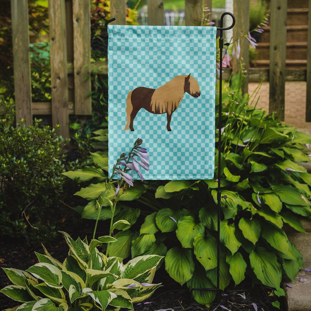 Shetland Pony Horse Blue Check Flag Garden Size by Caroline's Treasures