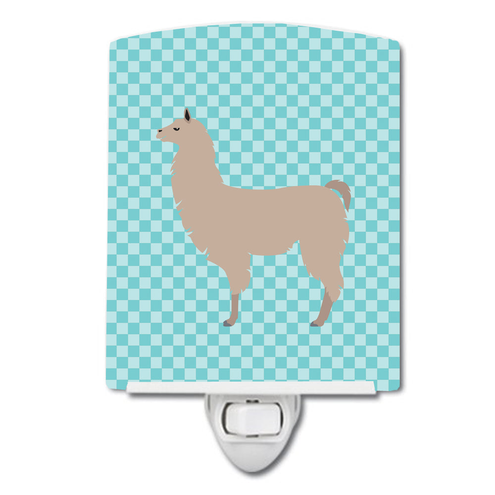 Buy this Llama Blue Check Ceramic Night Light BB8090CNL