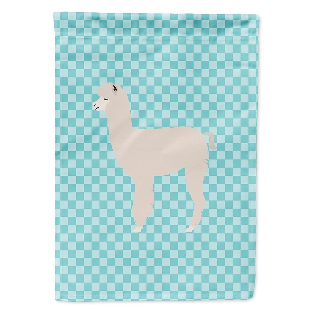 Buy this Alpaca Blue Check Flag Garden Size