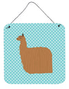 Alpaca Suri Blue Check Wall or Door Hanging Prints BB8094DS66 by Caroline's Treasures