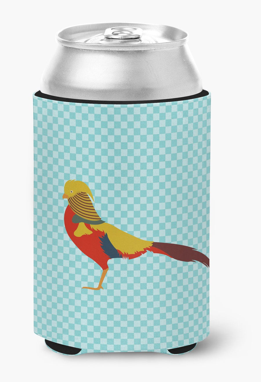 Buy this Golden or Chinese Pheasant Blue Check Can or Bottle Hugger
