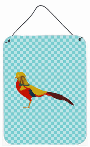 Buy this Golden or Chinese Pheasant Blue Check Wall or Door Hanging Prints BB8102DS1216