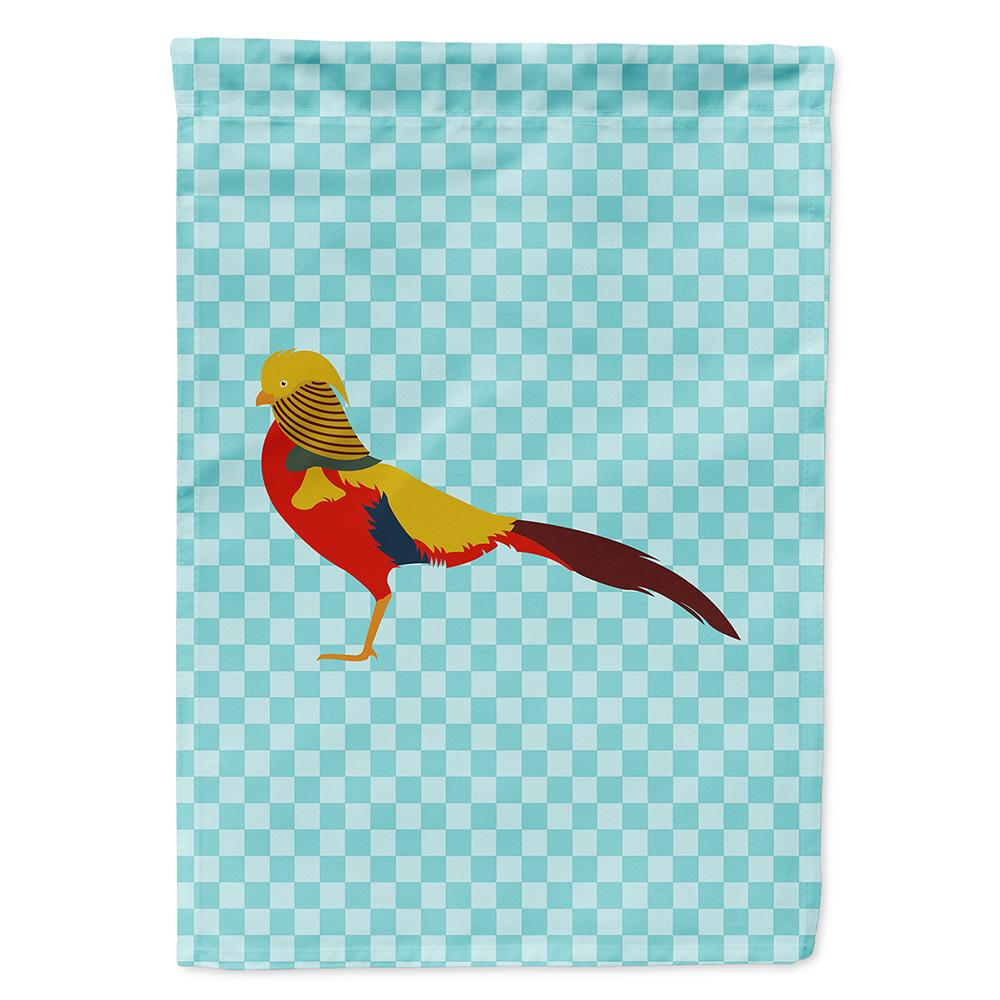 Buy this Golden or Chinese Pheasant Blue Check Flag Garden Size