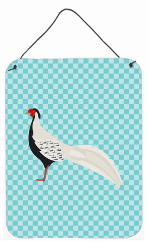 Buy this Silver Pheasant Blue Check Wall or Door Hanging Prints BB8103DS1216