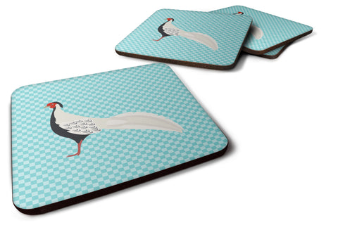 Buy this Silver Pheasant Blue Check Foam Coaster Set of 4 BB8103FC