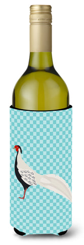 Buy this Silver Pheasant Blue Check Wine Bottle Beverge Insulator Hugger BB8103LITERK