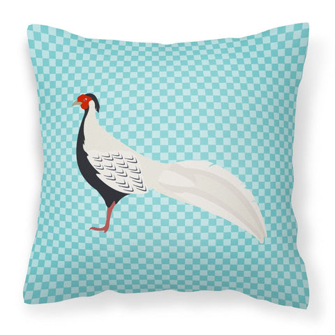 Buy this Silver Pheasant Blue Check Fabric Decorative Pillow BB8103PW1818