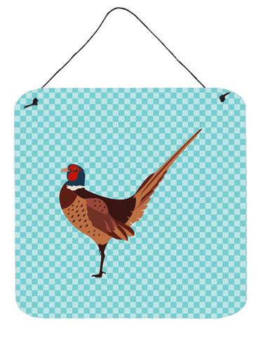 Buy this Ring-necked Common Pheasant Blue Check Wall or Door Hanging Prints BB8104DS66