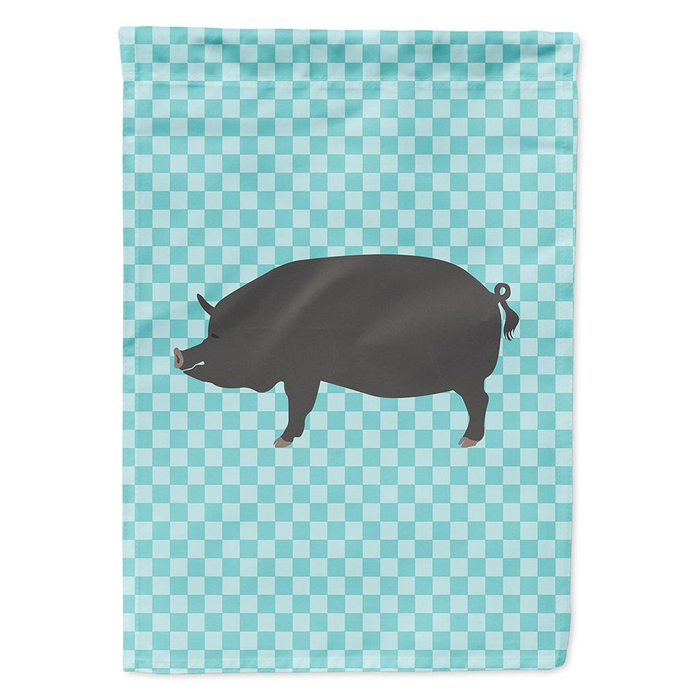 Berkshire Pig Blue Check Flag Garden Size by Caroline's Treasures
