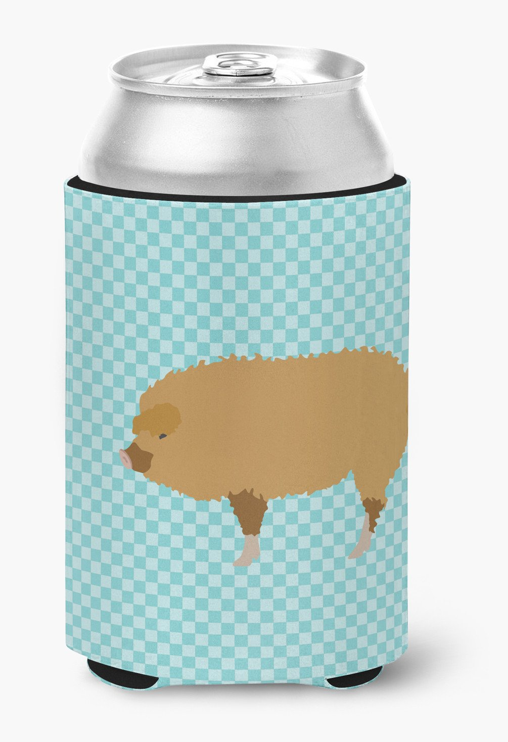 Hungarian Mangalica Pig Blue Check Can or Bottle Hugger BB8108CC by Caroline's Treasures