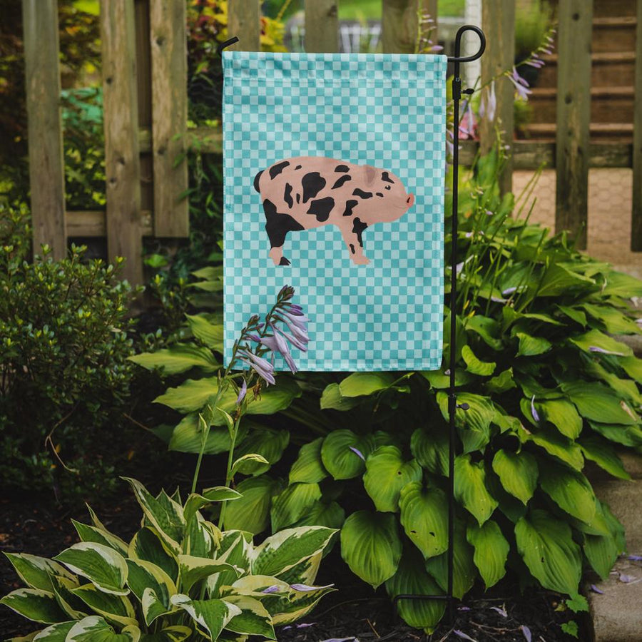 Buy this Mini Miniature Pig Blue Check Flag Garden Size