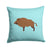 Buy this Wild Boar Pig Blue Check Fabric Decorative Pillow BB8110PW1414