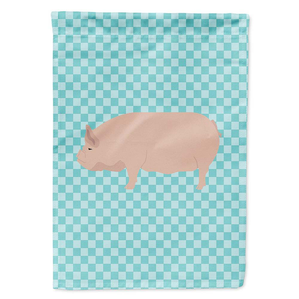 Buy this Welsh Pig Blue Check Flag Garden Size