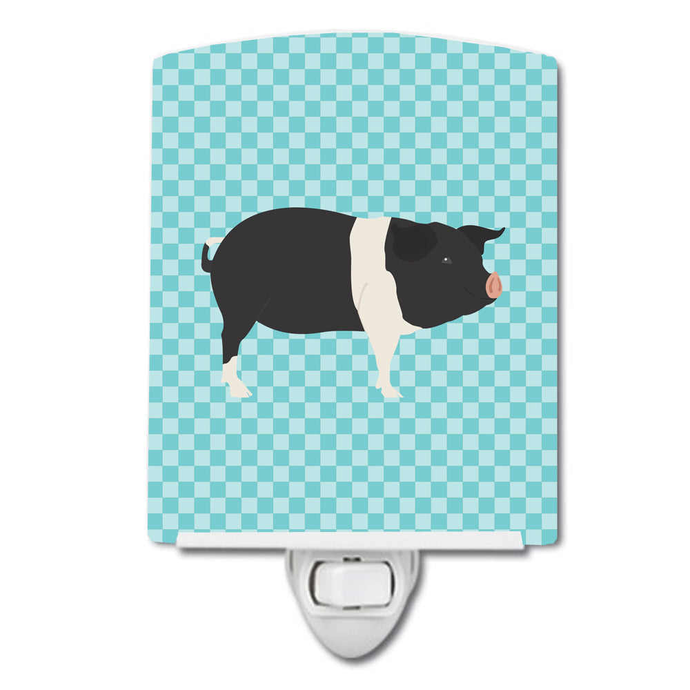 Hampshire Pig Blue Check Ceramic Night Light BB8113CNL by Caroline's Treasures