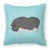 Vietnamese Pot-Bellied Pig Blue Check Fabric Decorative Pillow BB8115PW1818 by Caroline's Treasures