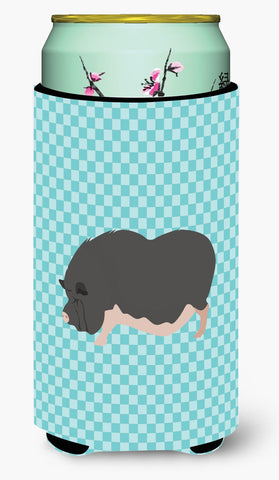 Buy this Vietnamese Pot-Bellied Pig Blue Check Tall Boy Beverage Insulator Hugger BB8115TBC