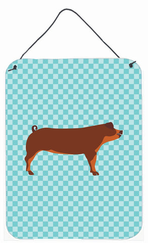 Buy this Duroc Pig Blue Check Wall or Door Hanging Prints BB8116DS1216