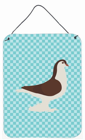 Buy this Large Pigeon Blue Check Wall or Door Hanging Prints BB8117DS1216