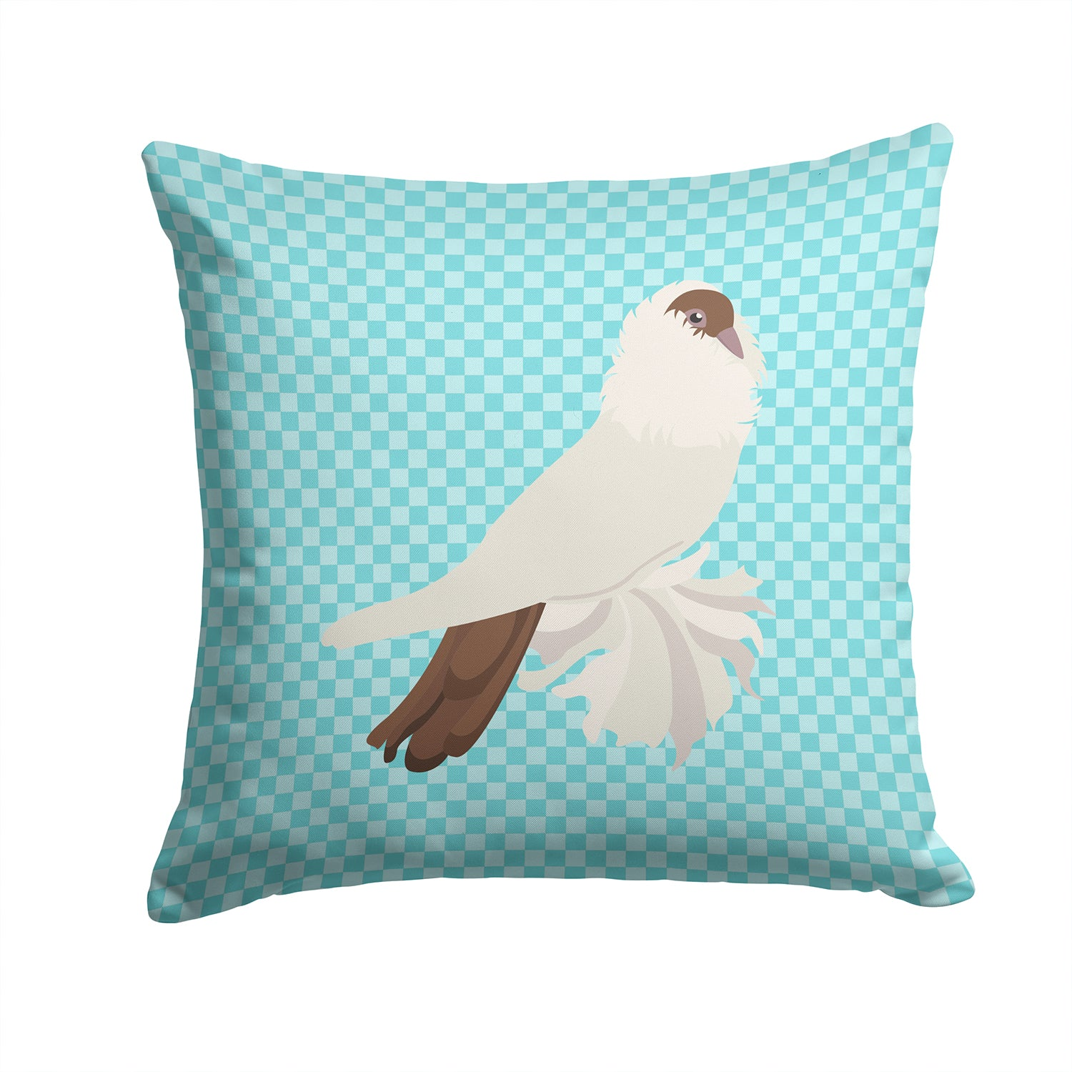 Buy this German Helmet Pigeon Blue Check Fabric Decorative Pillow BB8118PW1414