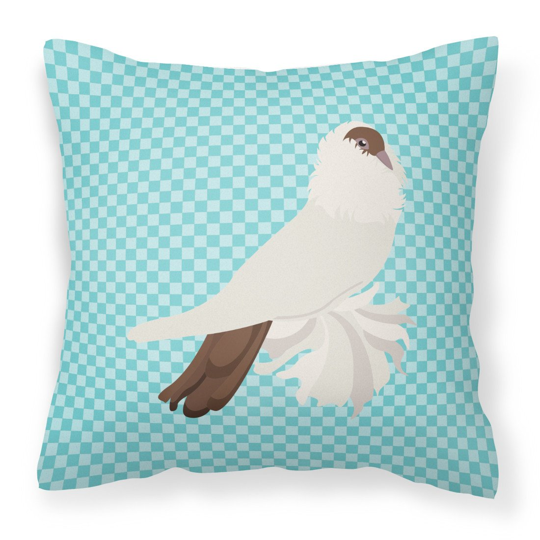 German Helmet Pigeon Blue Check Fabric Decorative Pillow BB8118PW1818 by Caroline's Treasures