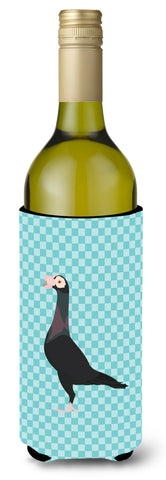 Buy this English Carrier Pigeon Blue Check Wine Bottle Beverge Insulator Hugger BB8119LITERK